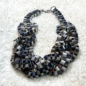 Gray and silver fashion necklace